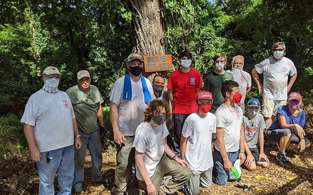 Boy Scouts 225 clears path at Hermitages